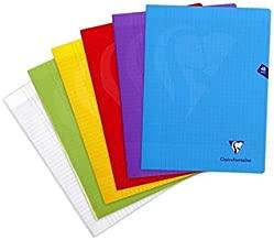 192/pagine Clairefontaine Quaderni Rilegati 24/x 32/cm quadretti piccoli colori assortiti