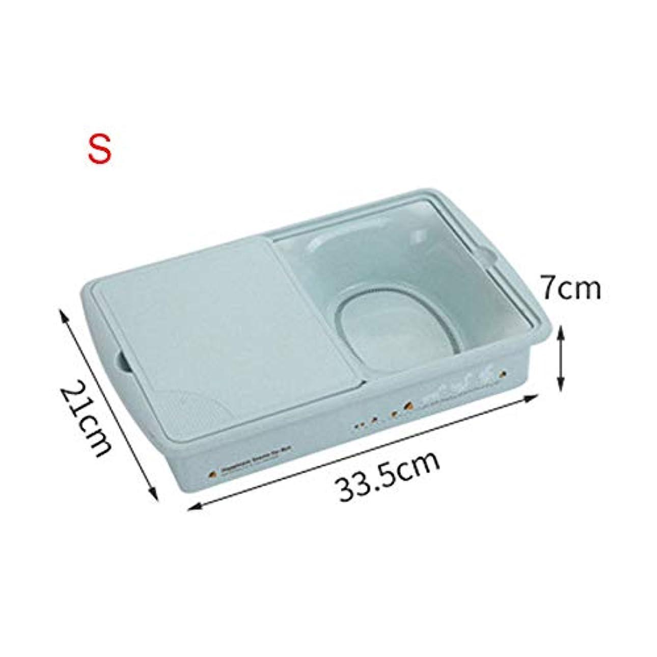 驚くばかりプロトタイプ広告Fitfulvan 2層プラスチック排水バスケット 多目的コンテナ シンク洗濯バスケット 正方形麦わらまな板