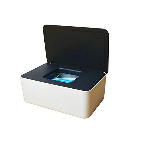 Caja de almacenamiento de escritorio Caja de almacenamiento de 2 piezas, perchero de almacenamiento de bolsas de escritorio pequeño pequeño con tapa para máscaras tejidos húmedos organizador escritori