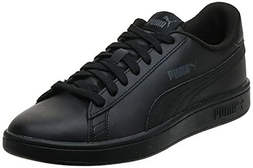 PUMA Smash v2 L', Baskets Mixte, Noir Black Black, 42 EU