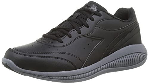 Diadora Eagle 4 SL, Zapatillas Deportivas Hombre, Black Steel Gray, 44.5 EU