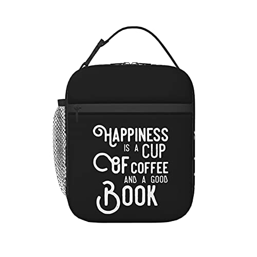Happiness is A Cup of Coffee Lunch Bag for Women for Work Men Kids Insulated Lunch Box Lunch Tote Container Picnic