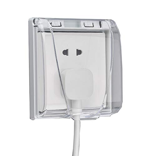 Electric Outlet Covers Model 86 Switch Pulg Waterproof Socket Covers for Outdoor Bathroom Electrical Box Cover Baby Safety Protector (Transparent)