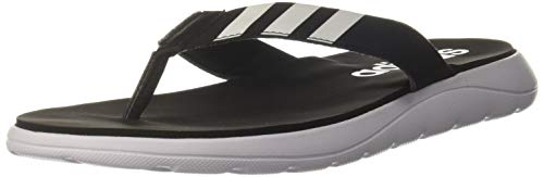 adidas Herren Comfort Flipflop, CBLACK/FTWWHT/CBLACK, 46 2/3 EU