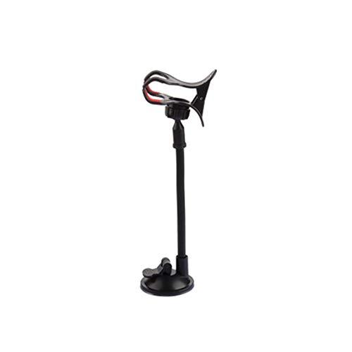 RoxTop Saugnapf Autotelefonhalter Doppel Collet Multifunktions-Navigation Handy Sitz Faule Bracket Schwarz