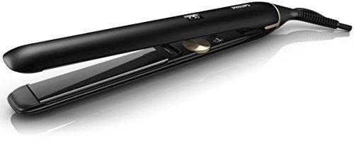 Philips Pro HPS930/00 - Plancha de Pelo Profesional, Placas Titanio 110 mm, Ionica, Control Digital Temperatura 140º a 230º, Negro