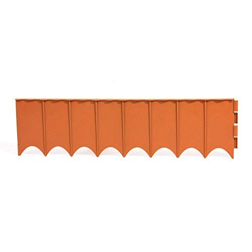 Prosper Plast IKRR-R624 595 x 16 cm Clôture de jardin, assortie (marron, terre cuite, vert) (12 pièces)
