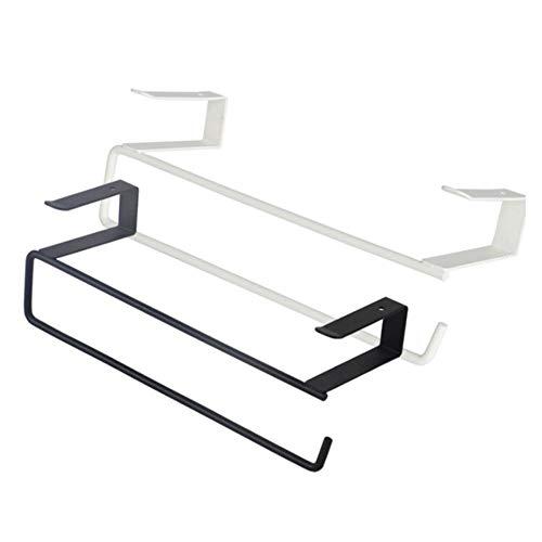 LZQBD Metal Planchar Toalla Estante,Almacenamiento Poseedor Colgando Cocina Rodar Papel Organizador Tejido Percha Toalla Bar,Baño Cocina Hardware a/Blanco/Como se muestra