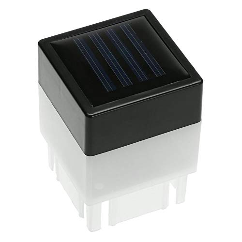 SparY Solar-LED-Lampe, wasserdichte LED-quadratische Lampe, für den Außenbereich, Garten, Terrasse, Terrasse, Hof, Garten, Auffahrt