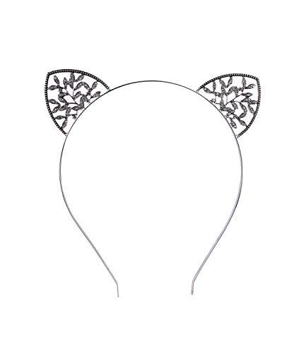 SIX Haarreif mit Katzenohren mit funkelnden Strasssteinen besetzt (315-823)