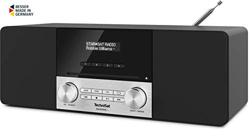 TechniSat DIGITRADIO 3 - Stereo DAB Radio Kompaktanlage (DAB+, UKW, CD-Player, Bluetooth, USB, Kopfhöreranschluss, AUX-Eingang, Radiowecker, OLED Display, 20 Watt RMS) schwarz