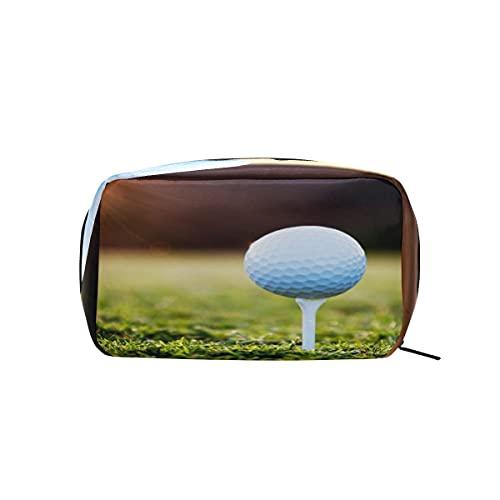 XXNO - Bolsa de cosméticos con cremallera para guardar el césped y la puesta del sol, bolsa de maquillaje, organizador de artículos de tocador, para mujeres y niñas