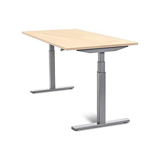 MESA DE ROCADA REGULABLE EN ALTURA ELECTRICAMENTE E-TABLE 160X80CM COLOR HAYA