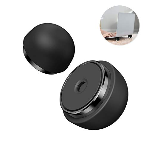 Laptop Cooling Pad, Nediea Ergonomic Laptop Stand Small Invisible Cooler Ball Portable Magnetic Foot Heat for Notebook/MacBook Pro/MacBook Air/iPad Pro/iPad Air/Surface/Tablets (Black)