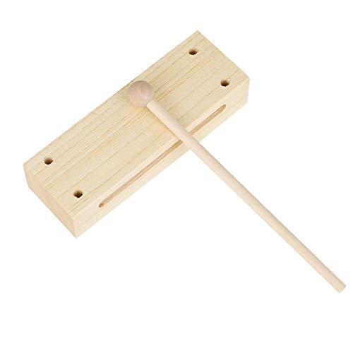 WXGY Instrument Holzblock, Holz Percussion Block Mit Mallet Musikinstrument Für Kinder Percussion Instrumente