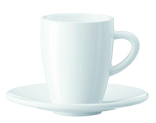 Jura 66497 2er-Set inklusive Unterteller weiß Espressotassen, Porzellan, 5.5 cm, 2-Einheiten