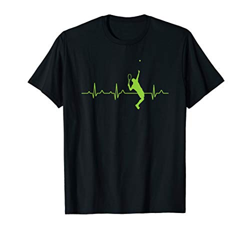 Tennis Spieler Tenniskleidung Tennis Herzschlag T-Shirt