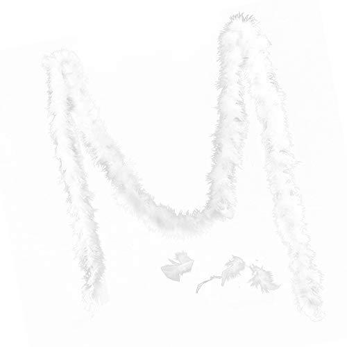 Raybre Art 1 / 3pcs 2M Albero di Natale Bianco Boa di Piume Ghirlanda di Nastri per Feste