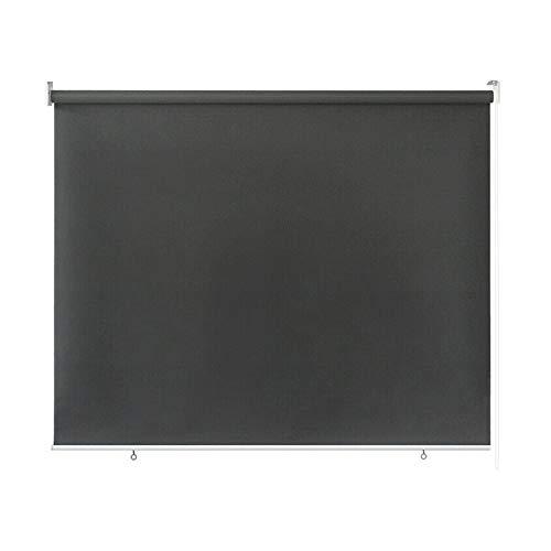 wolketon Senkrechtmarkise für außen, Markise Balkonrollo für Windschutz, Sonnenschutz und Sichtschutz, wasserfest,140 x 240 cm grau