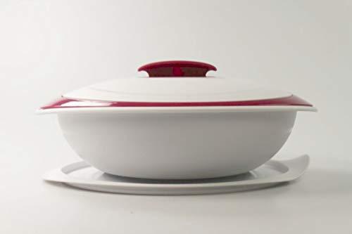 Tupperware Thermo-Duo 1,5 l, color blanco, moras, para servir y mantener el calor, Iso-Duo