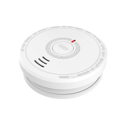 Smoke Fire Alarm, Product Life of 10 Years, Battery Smoke Detector with LED...