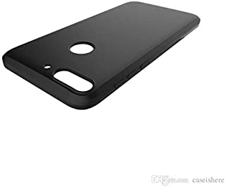 HTC Desire 12 Plus TPU Silicone Back Soft Case Cover Black By Muzz