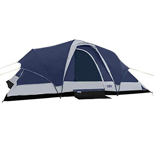 Pacific Pass Camping Tent 8 Person Family Dome Tent with Dividers Awning & Removable Rain Fly, Easy Set Up for Camp Backpacking Hiking Outdoor, Navy, 206114.280.7 inches