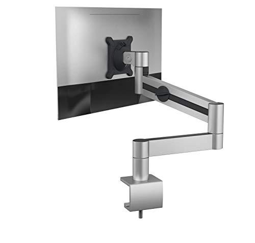 Durable 508323 Monitor Halterung mit Tischklemme, flexibler Schwenkarm 360° drehbar, für VESA Bildschirme 21-27