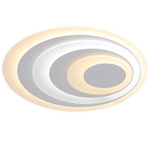 Lámpara de techo LHY LED Lámpara de Sala Lámpara de Dormitorio de Ambiente Moderno Simple Lámpara de habitación Creativa romántica cálida Exquisito (Color : Stepless dimming, Size : 50 * 40cm)