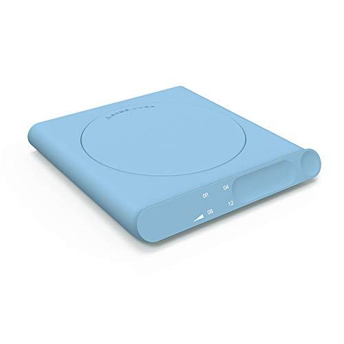 Mini Ligero Calienta Tazas USB Calentador Detección Táctil USB Calentador Taza con Interruptor Temporizador Calentador De Tazas 3 Niveles De Ajuste para Calentar Bebidas,Azul