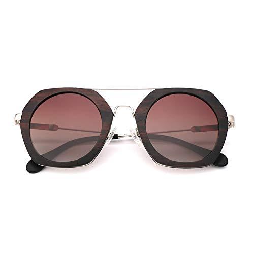 GTYHJUIK bamboe houten zonnebril persoonlijkheid gepolariseerde schaduw anti-schittering spiegel anti-UV Spectacles metalen benen voor mannen en vrouwen