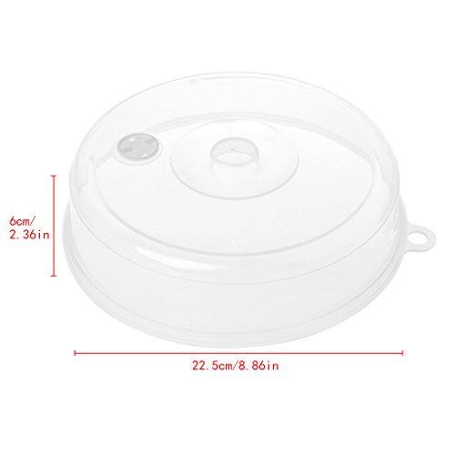 SimpleLife Kunststoff Mikrowelle Platte Abdeckung mit Dampfentlüftung, Deckel Food Dish Kitchen Tools 23x5cm