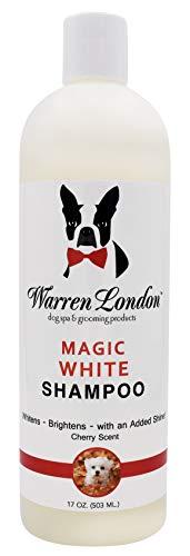 Warren London Magic White Brightening Dog Shampoo - Enhances Natural Color & Shine of All Coats - 17 oz