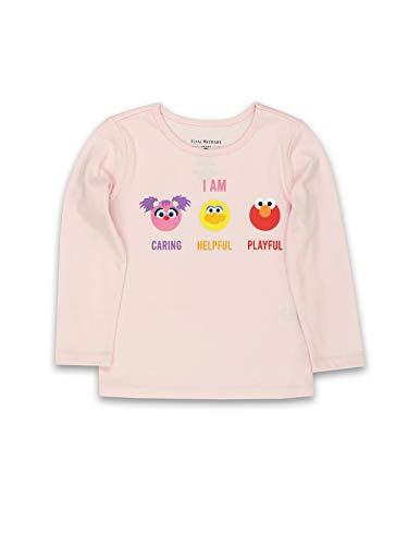 Isaac Mizrahi Loves Sesame Street Elmo Toddler Baby Long Sleeve T-Shirt Tee (4T, Light Pink)