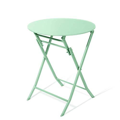 Bijzettafeltje Folding Side salontafel/eettafel, lucht- en ruimtevaarvaart, staal, matte tafeltop, eenvoudige wijze, geschikt voor eetkamer, balkon, terras, mintgroen