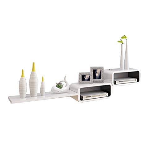 Laptopständer Tabletttisch TV-Eckmöbel Eckvitrinen Für Wohnzimmer Eckwandregal Hintergrundwandwandschrank Schlafzimmer Dekorrahmen 20kg (Color : Weiß, Size : 140cm*30cm*20cm)