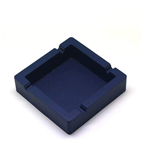 WYJBD Aschenbecher for Zigaretten Großer, schwarzer, unzerbrechlicher Aschenbecher aus Silikon for den Innenhof/den Außenbereich/den Innenbereich (Color : Blue)