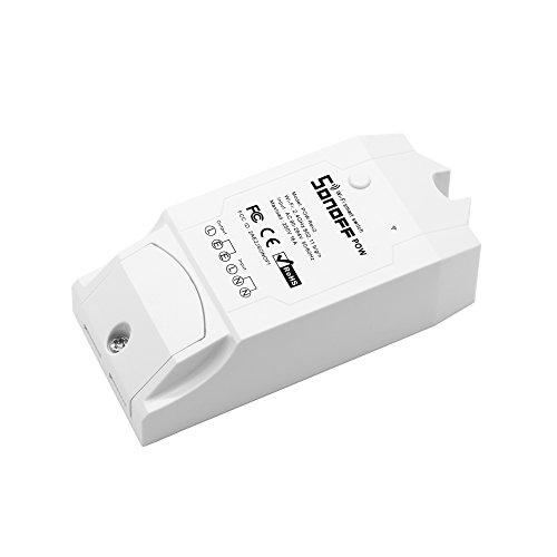 ALKM Interruptor inalámbrico WiFi ON/OFF 16A Con el trabajo de consumo de energía en tiempo real Trabajo con Google Home, Google Home Mini, Google Nest IFTTTT