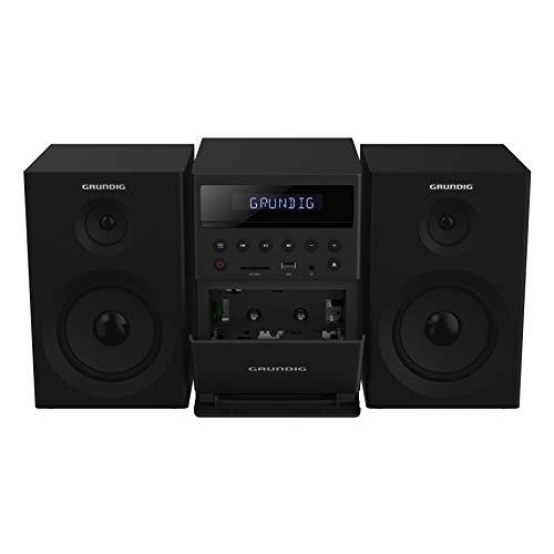 GRUNDIG MS 300 Design Micro Anlage, Kassette, FM-Tuner, MP3 Wiedergabe, USB, SD Karte, Bluetooth, GHF1050