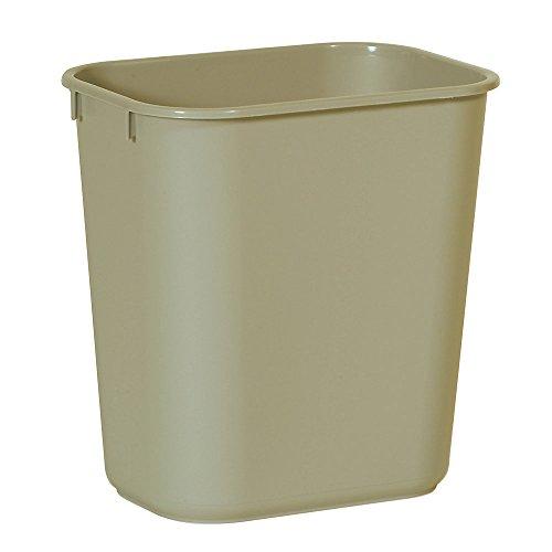 Rubbermaid Wastebasket, Small, Beige, 3 gal