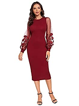 Best burgundy club dress Reviews