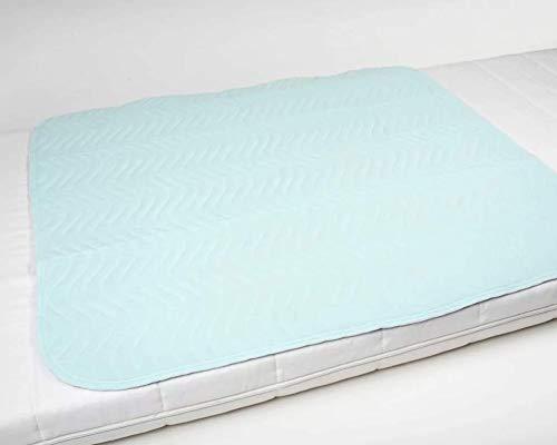 Inkontinenzunterlage waschbar   85x90, 5-lagig ohne Flügel   Krankenunterlage   Bettschutzauflage   Inkontinenzauflage ActivePro