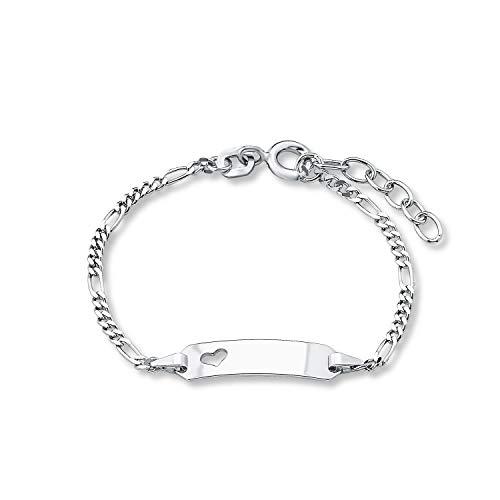 amor Armband für Mädchen 12+2 cm längenverstellbar gravierbar Herz 925 Sterling Silber