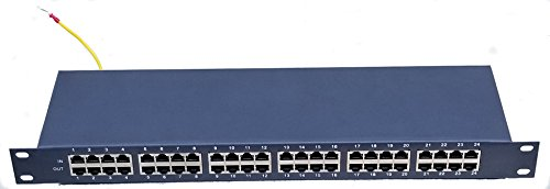 24 Channel POE Surge Protector for POE Hub in 1U Rack Mounting Panel
