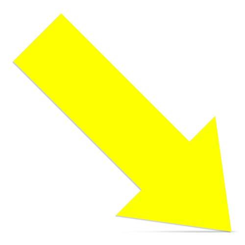 Cinsey 20 Pack Pegatina Flechas Adhesivas Suelo Amarillo,30 * 15cm Vinilo Autoadhesivo Pegatinas de Seguridad para Indicación Recorrido Seguridad
