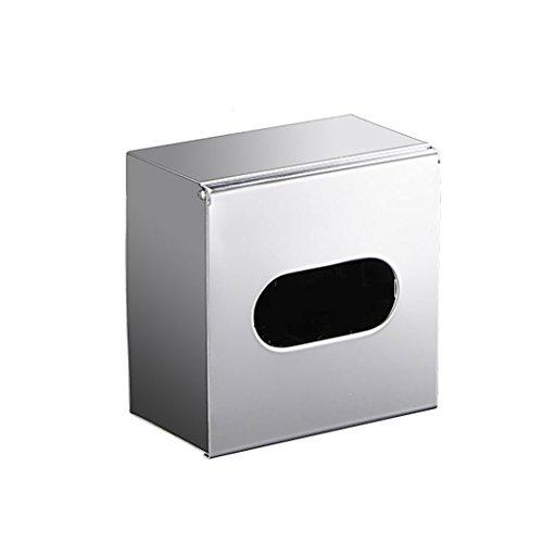 HSJ Caja de pañuelos de Acero Inoxidable Caja de Papel Colgante Caja de pañuelos de Doble Uso Caja de pañuelos Creativa Durable (Pattern : A)