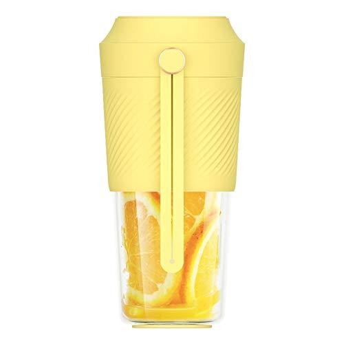 LIANGANAN Licuadora portátil Fast Juicer 400 ml extractor de taza de fruta carga viaje casero jugo (color: blanco) zhuang94 (color: amarillo)