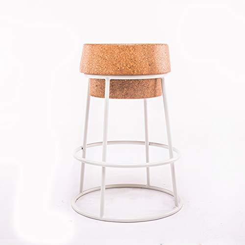 BLWX - Tabouret de bar Accueil Tabouret de bar en fer forgé Réception Bar Tabouret haut Tabouret de restaurant Chaise Beauty Chair Tabouret de bar (Couleur : C, taille : Sitting high 75)