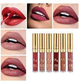 Beauty Glazed Matte Nude Liquid Lipstick Lip Gloss Kit Waterproof Lip Makeup Durable Lipgloss Cosmetics Mini 6pcs/set Birthday Edition Long Lasting Non-Stick Cup Liquid Lip Gloss Set
