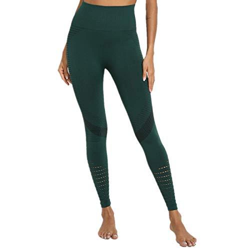 NIGHTMARE Pantalones de Yoga Ajustados de Cintura Alta con sensación Desnuda de Cintura Alta para Mujer, Mallas de Gimnasio para Entrenamiento, Mallas de Gimnasio, Estiramiento de Potencia L